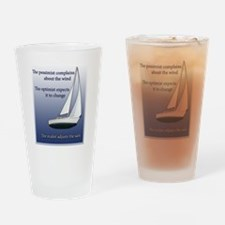 Adjust the sails Drinking Glass