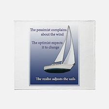 Adjust the sails Throw Blanket