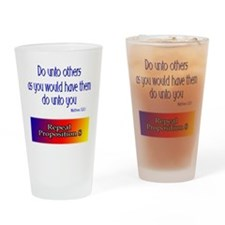 Repeal Prop 8 Rainbow Drinking Glass