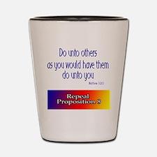 Repeal Prop 8 Rainbow Shot Glass