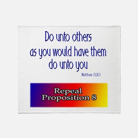 Repeal Prop 8 Rainbow Throw Blanket