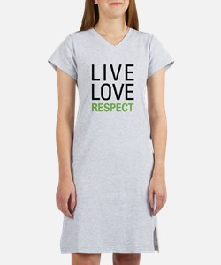 Live Love Respect Women's Nightshirt
