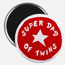 SUPER DAD OF TWINS Magnet