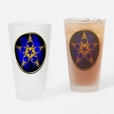 Pentagram With Upside Down St Drinking Glass