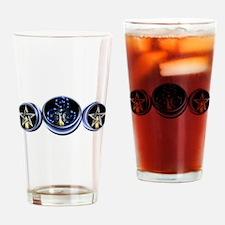 Triple Spiral Lunar Moon Drinking Glass