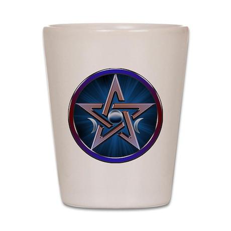 Lunar Goddes Pentagram Shot Glass