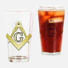 Freemason Symbol Drinking Glass