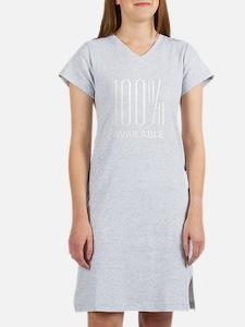 100 Percent Availalbe Women's Nightshirt