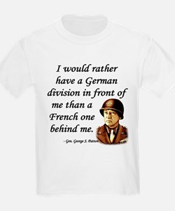 Patton Quote - German division in front of me T-Shirt
