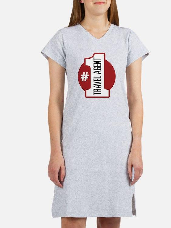 #1 Travel Agent Women's Nightshirt