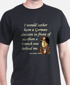 Patton Quote - German division in front of me Blac