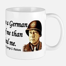 Patton Quote - German division in front of me Small Small Mug