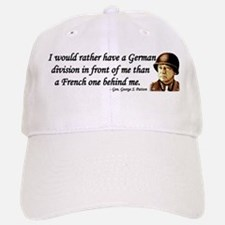 Patton Quote - German division in front of me Baseball Baseball Cap