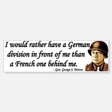 Patton Quote - German division in front of me Stic