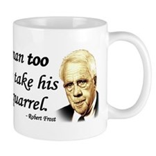 Robert Frost Quote - Liberal is a man too broadmin
