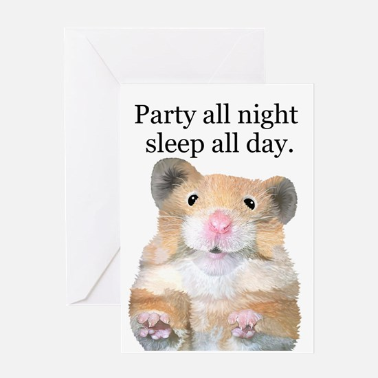 Party All Night Greeting Card