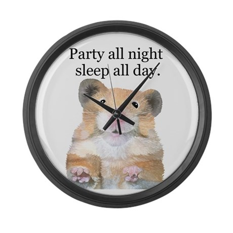Party All Night Large Wall Clock