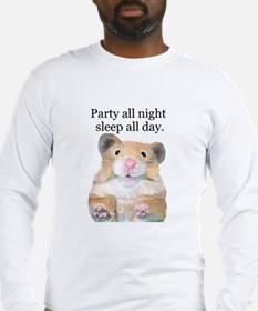 Party All Night Long Sleeve T-Shirt