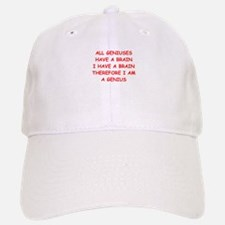 funny genius jokes Baseball Baseball Cap