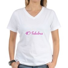 fabulous forty tee black shirt pink  type T-Shirt