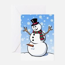 Naughty Snowman Greeting Card