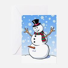 Naughty Snowman Greeting Card
