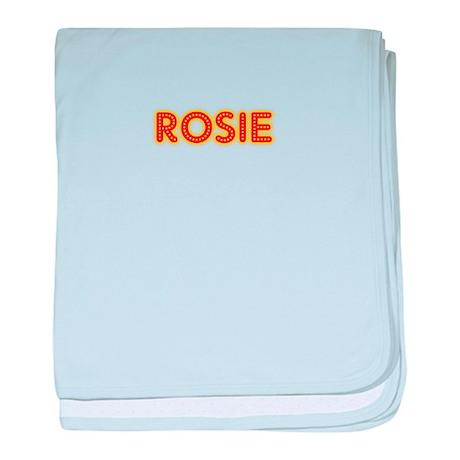 Rosie in Movie Lights baby blanket