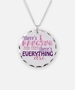Dancing is Everything Necklace Circle Charm