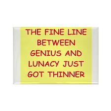 funny genius jokes Rectangle Magnet