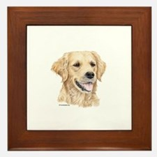 Golden Retriever Framed Tile
