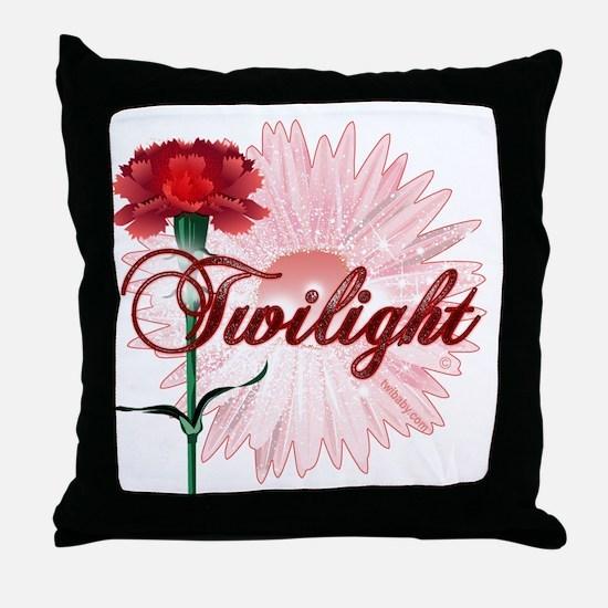 Twilight Flowers by Twidaddy.com Throw Pillow