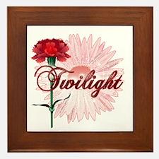 Twilight Flowers by Twidaddy.com Framed Tile