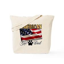 American Cat Dad Tote Bag