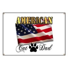 American Cat Dad Banner