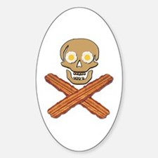 Food Pirate Bacon Eggs Sticker (Oval)