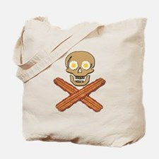 Food Pirate Bacon Eggs Tote Bag