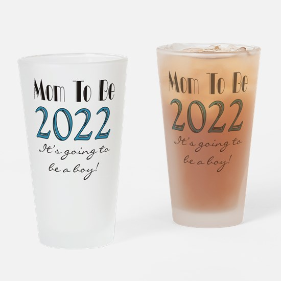 2017 Future Mom of Boy Drinking Glass
