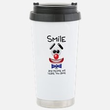 Smile Alone Stainless Steel Travel Mug