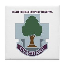 DUI - 115th Combat Support Hospital with Text Tile