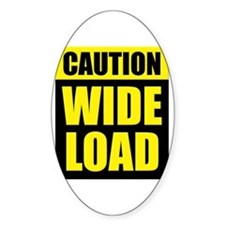 Wide Load (Fat) Decal