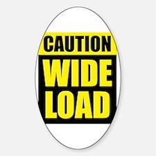 Wide Load (Fat) Sticker (Oval)