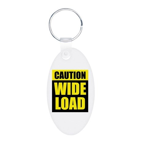 Wide Load (Fat) Aluminum Oval Keychain
