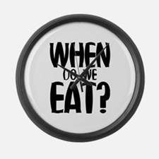 When Do We Eat? Large Wall Clock