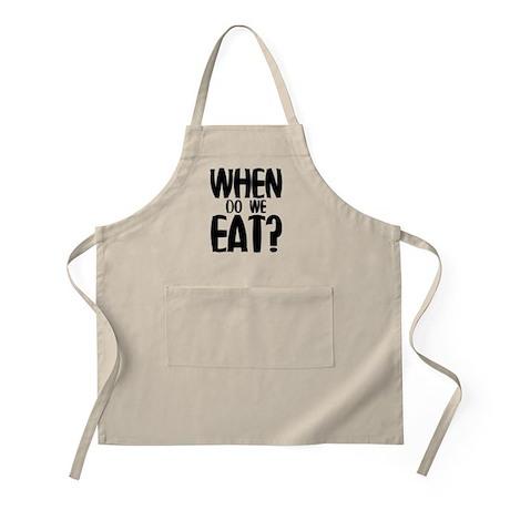 When Do We Eat? Apron