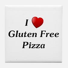 I Love Gluten Free Pizza Tile Coaster