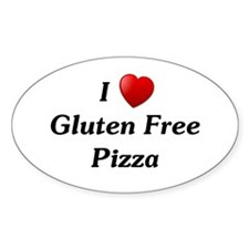 I Love Gluten Free Pizza Decal