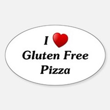 I Love Gluten Free Pizza Sticker (Oval)