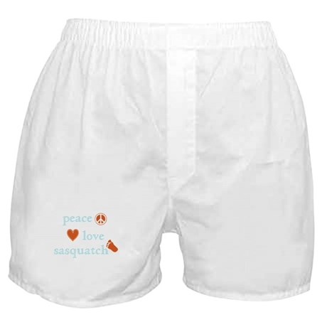 Peace, Love and Sasquatch Boxer Shorts