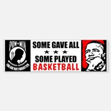 """Some Played Basketball: Obama"" Bumper Bumper Sticker"