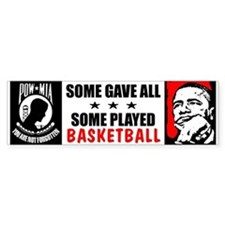 """Some Played Basketball: Obama"" Bumper Sticker"